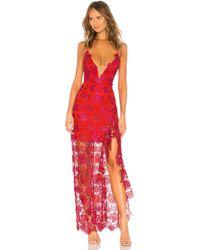 Lovers + Friends - Vestido largo tarron en color rojo - Lyst