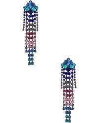 Rebecca Minkoff - Gemma Crystal Fringe Earrings In Metallic Silver. - Lyst