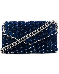 TAMBONITA - Eve Velvet Clutch With Gunmetal Chain - Lyst