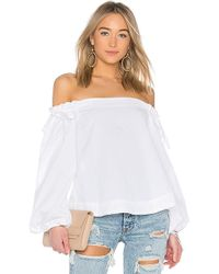 Kendall + Kylie - Off Shoulder Top In White - Lyst