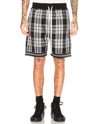 Represent - Tartan Shorts In Black & White - Lyst
