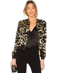 Rachel Zoe - Emilia Ribbed-jersey Trimmed Sequined Crepe Bomber Jacket - Lyst
