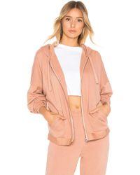 253366aca5660 Calvin Klein - Tonal Logo Full Zip Hoodie - Lyst