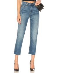 Blank NYC - The High Rise Madison Crop In Blue - Lyst