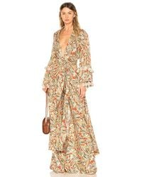 Alexis - Tanu Caftan In Brown - Lyst