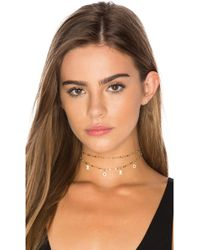 Natalie B Jewelry Iman Choker in Metallic Silver hKhqk6