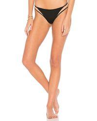 Tori Praver Swimwear - Manon High Leg Cheeky Bottom In Black - Lyst