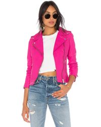 Lamarque - Holy Leather Jacket In Fuchsia - Lyst