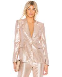 Rachel Zoe - Debra Sequin Jacket In Metallic Neutral - Lyst