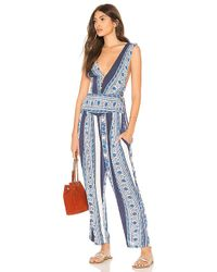 Free People - All Shook Up Jumpsuit In Blue - Lyst