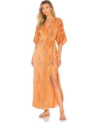 65fdaffc3 House of Harlow 1960 - Vestido midi rochelle en color naranja - Lyst