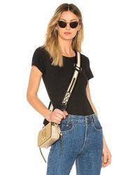 RE/DONE - Slim Tee Bodysuit In Black - Lyst