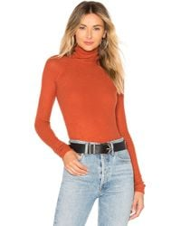 Free People - All You Want Bodysuit In Burnt Orange - Lyst
