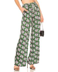 MILLY - Hexagon Floral Print Pant - Lyst