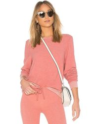 Wildfox - Solid Long Sweatshirt In Rose - Lyst