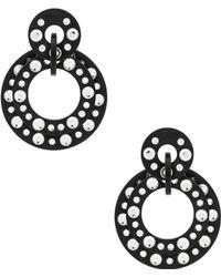 Lele Sadoughi - Starlight Crystal Hoop Earrings In Black. - Lyst
