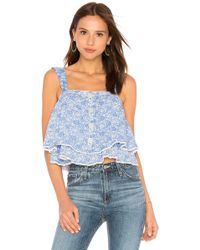 Free People - Sweet Caroline Top - Lyst