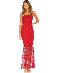 Lovers + Friends - Teagan Gown In Red - Lyst
