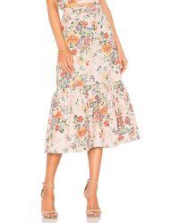 Rebecca Taylor - Marlena Skirt In Rose - Lyst