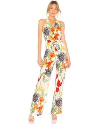 0d66a261444 Lyst - Alice + Olivia Lucie Bustier Caucho Jumpsuit in Black