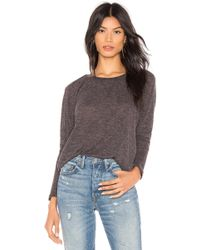 David Lerner - Puff Sleeve Pullover In Charcoal - Lyst