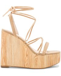 RAYE - Wren Wedge In Tan - Lyst