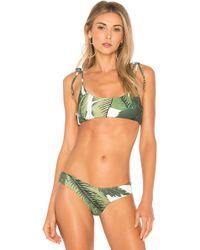 3e88059d056 Lyst - Beach Riot Saltwater Bikini Top in Blue