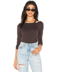 Chaser - Long Sleeve Vented Neck Tee In Black - Lyst