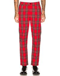Stussy - Bryan Checked Woven Trousers - Lyst