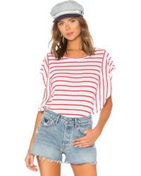 Cupcakes And Cashmere - Cannon Top In Red - Lyst