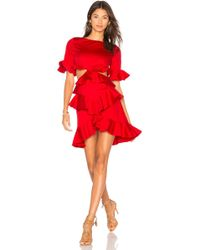 Fame & Partners - X Revolve Xavier Ruffle Dress - Lyst