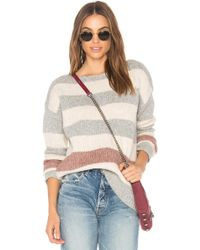 White + Warren - Bold Stripe Bateauneck Jumper - Lyst