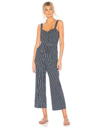 PAIGE - Emma Jumpsuit In Navy - Lyst
