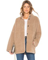 Velvet By Graham & Spencer - Albany Lux Faux Sherpa Jacket - Lyst