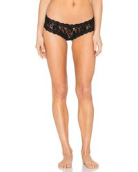 Hanky Panky - After midnight open crotch cheeky hipster en color negro - Lyst