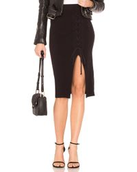 Stateside - High Waisted Lace Up Skirt - Lyst