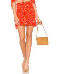 Blue Life - Last Night Skirt In Red - Lyst