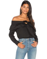 The Fifth Label - Paper Planes Top In Black - Lyst