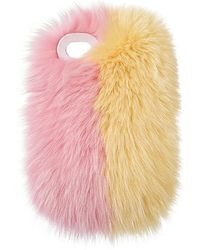 Charlotte Simone - Phone Fluff Faux Fur Iphone 7/8 Case In Yellow. - Lyst