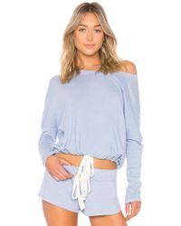 Eberjey - Heather Slouchy Tee In Blue - Lyst