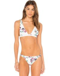 MINKPINK - Pretty Petals Bikini Top In White - Lyst