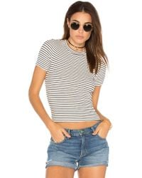 Getting Back to Square One - Short Sleeve Crop Sweater In White - Lyst