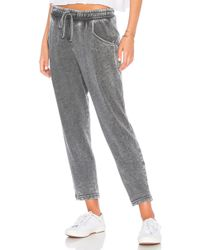 Michael Stars - Cropped Jogger In Charcoal - Lyst