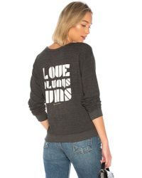 Spiritual Gangster - Love Wins Savasana Sweatshirt In Charcoal - Lyst