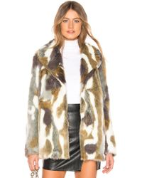 MAJORELLE - Colton Coat In Brown - Lyst