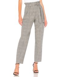 BCBGMAXAZRIA - Houndstooth Paperbag Waist Pant In Grey - Lyst