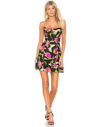 MILLY - Alanis Dress In Black - Lyst