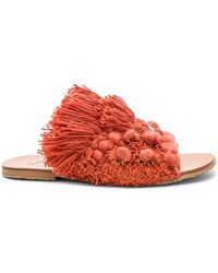 Free People - Mars At Night Slide In Coral - Lyst