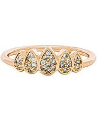 Melanie Auld - Teardrop Crown Ring In Metallic Gold - Lyst