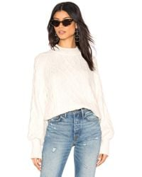 1.STATE - Mixed Cable Knit Jumper - Lyst